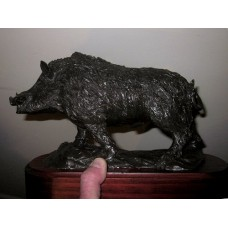 Cold Cast Bronze Boar