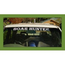 """Boar Hunter"" Window Sticker"